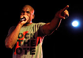 Darryl 'DMC' McDaniels of Run DMC performs at Rock The Vote's #TBT 25th Anniversary Concert at The Black Cat on October 22 2015 in Washington DC