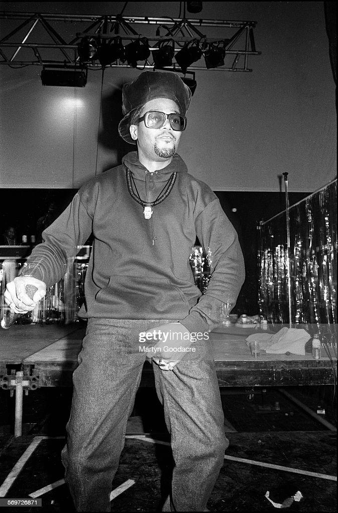 Darryl 'DMC' McDaniels of Run DMC performs on stage in London United Kingdom 1990