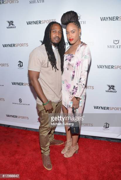 Darryl Jackson and Lauren LeJohn attend VaynerSports' Annual Celebrity ESPYS Kickoff Party at Avenue on July 10 2017 in Los Angeles California