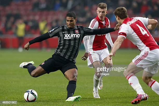 Darryl Lachman of FC Twente Daley Sinkgraven of Ajax Niklas Moisander of Ajax during the Dutch Eredivisie match between Ajax Amsterdam and FC Twente...