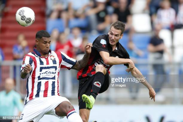 Darryl Lachman of Willem II Kevin Vermeulen of Excelsior during the Dutch Eredivisie match between Willem II Tilburg and sbv Excelsior at Koning...