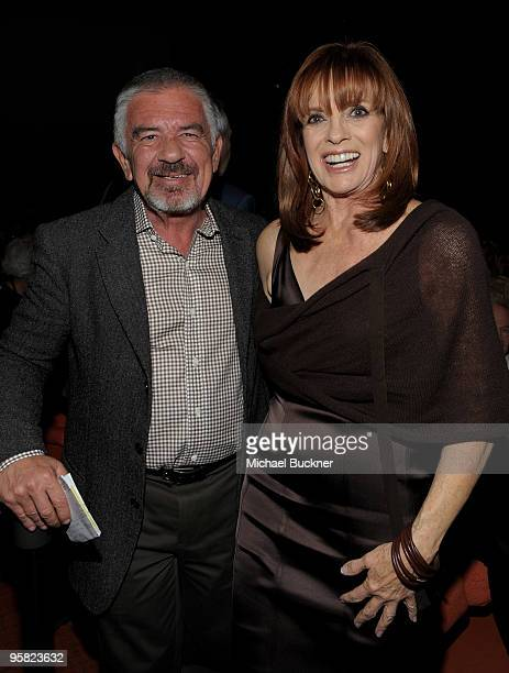 Darryl MacDonald of the Palm Springs Film Festival and actress Linda Grey attend the premiere of 'Expecting Mary' at the 2010 Palm Springs...