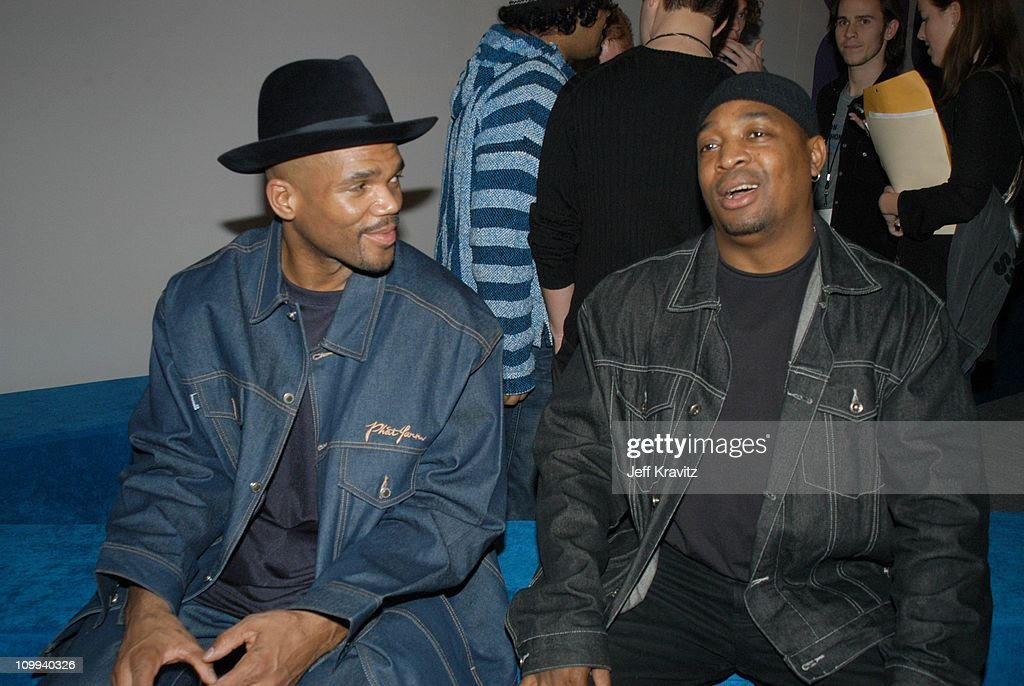 Darryl McDaniels and Chuck D during VH1 Big in 2002 Awards - Arrivals at Grand Olympic Auditorium in Los Angeles, CA, United States.