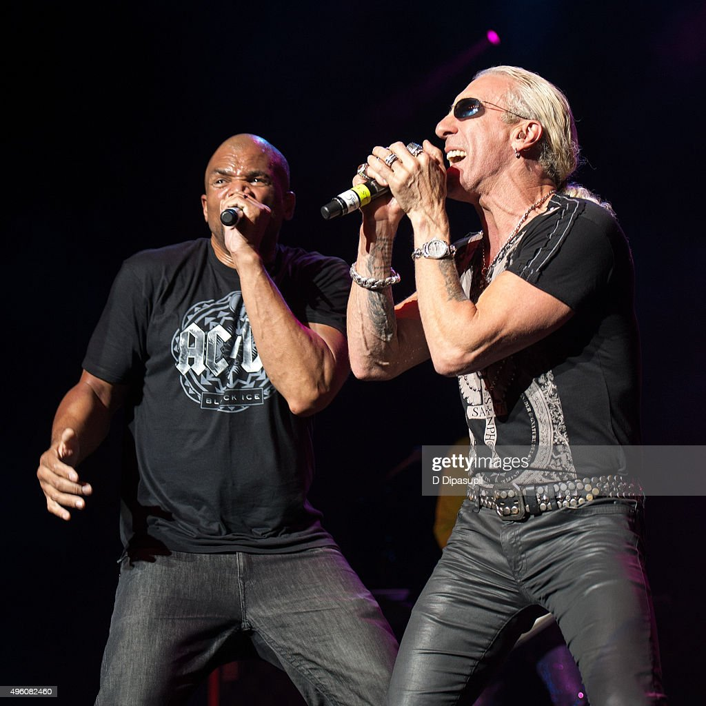 Darryl McDaniels and Dee Snider perform onstage during the 'I Want My 80's' concert at The Theater at Madison Square Garden on November 6 2015 in New...
