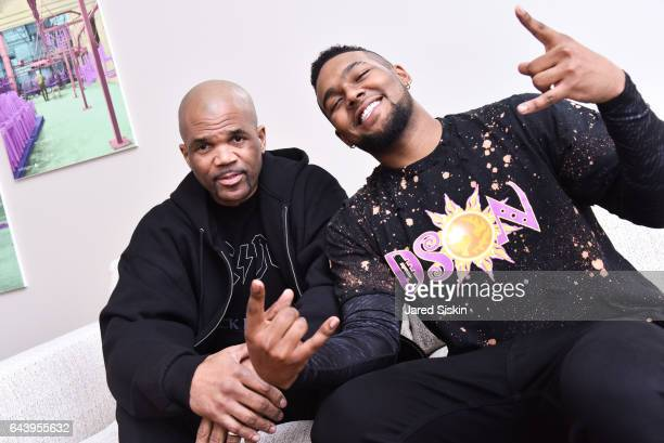 Darryl McDaniels and Dson McDaniels attend Niki and Shaokao Cheng Present Dson McDaniels at Calligaris on February 22 2017 in New York City