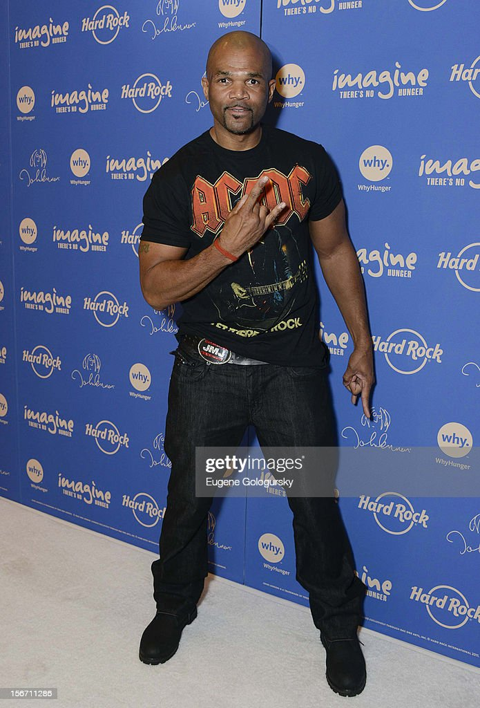 Darryl McDaniels attends the 5th annual Imagine There's No Hunger Campaign launch at the Hard Rock Cafe, Times Square on November 19, 2012 in New York City.