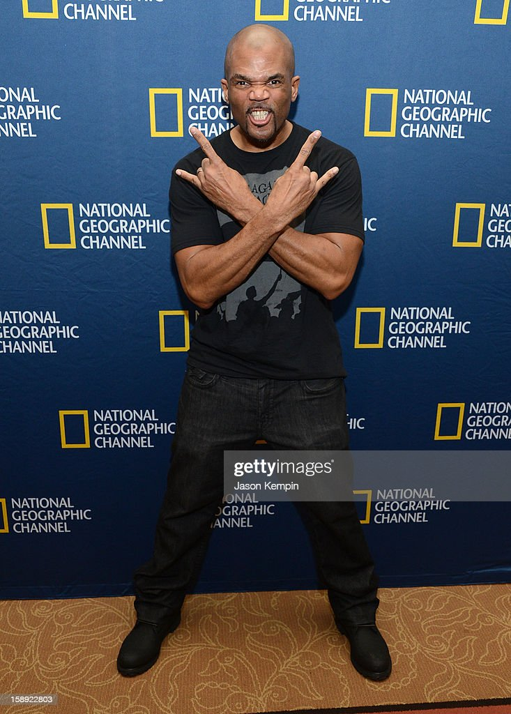Darryl McDaniels attends the National Geographic Channels' '2013 Winter TCA' Cocktail Party at the Langham Huntington Hotel on January 3, 2013 in Pasadena, California.