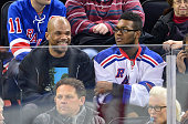 Darryl McDaniels attends the Pittsburgh Penguins Vs New York Rangers game at Madison Square Garden on November 11 2014 in New York City