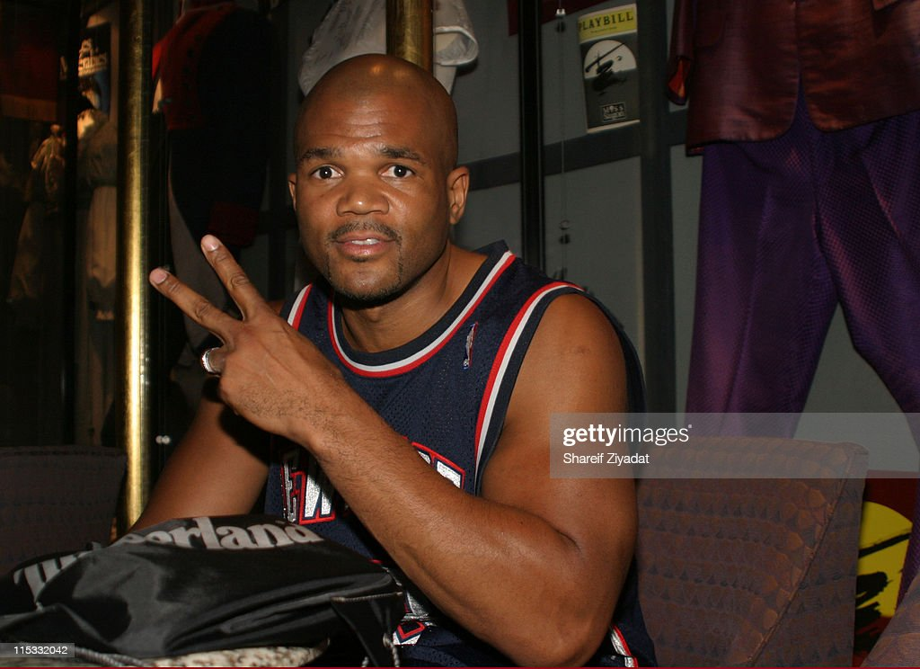 <a gi-track='captionPersonalityLinkClicked' href=/galleries/search?phrase=Darryl+McDaniels&family=editorial&specificpeople=175934 ng-click='$event.stopPropagation()'>Darryl McDaniels</a> of Run DMC during The Source Magazine - Press Conference at Double Tree Hotel in New York, United States.