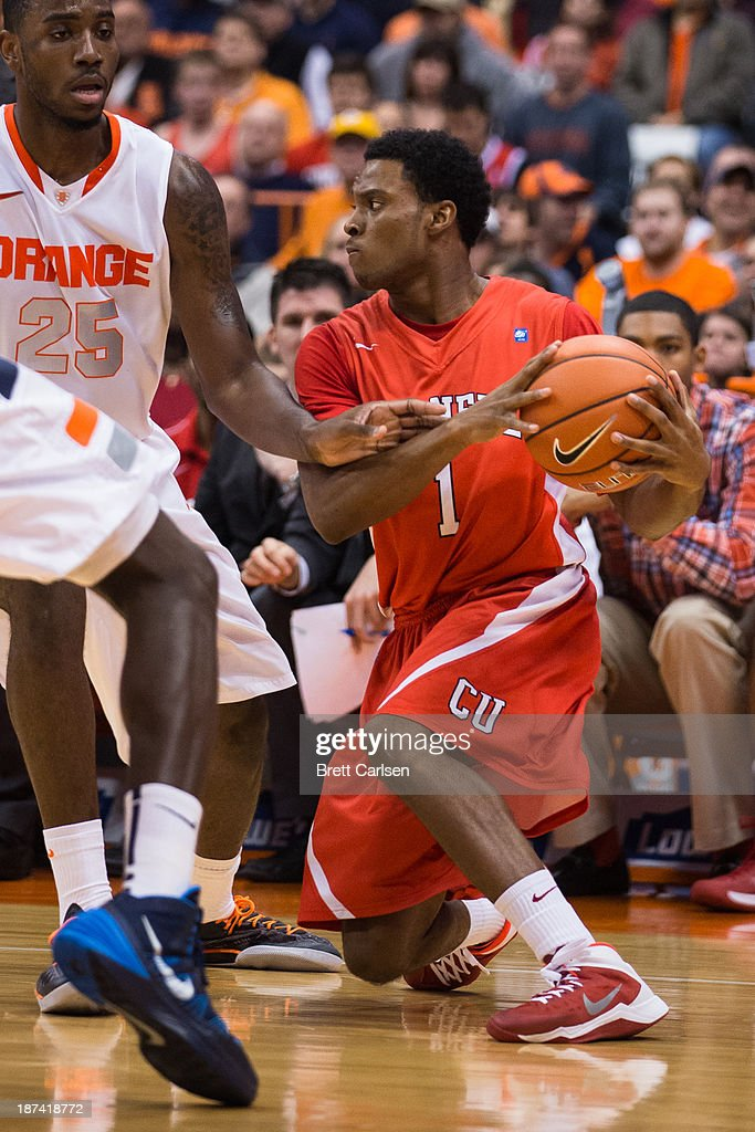 Darryl Smith #1 of Cornell Big Red cuts back with the ball against Syracuse Orange on November 8, 2013 at the Carrier Dome in Syracuse, New York.