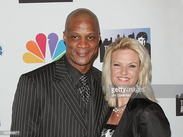 Darryl Strawberry and wife attend 'The Celebrity Apprentice' Season 3 finale after party at the Trump SoHo on May 23 2010 in New York City