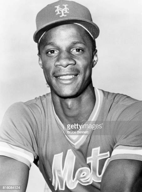 Darryl Strawberry of the New York Mets poses for a portrait circa March 1985 in Port St Lucie Florida