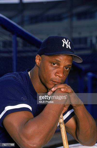 Darryl Strawberry of the New York Yankees poses for a photo in 1998
