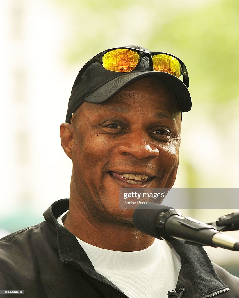 Darryl Strawberry promotes 'Straw' at the Bryant Park Reading Room on May 19, 2010 in New York City.