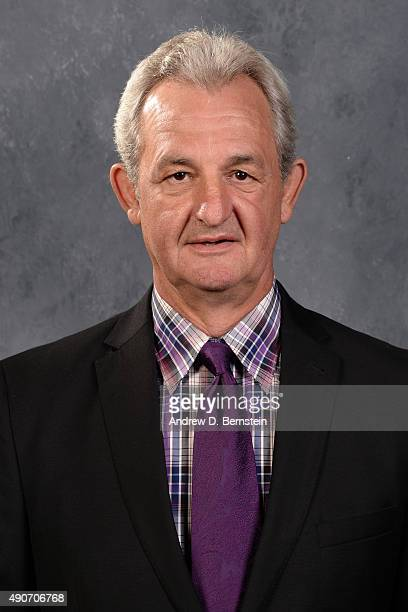 Darryl Sutter of the Los Angeles Kings poses for his official headshot for the 20152016 season on September 17 2015 at the Toyota Sports Center in El...