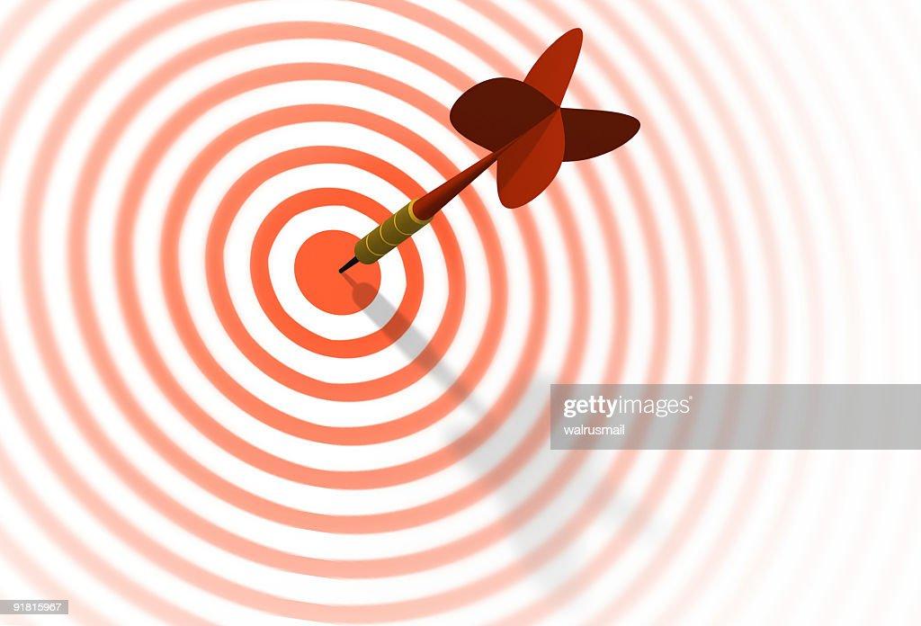 Dart & target : Stock Photo