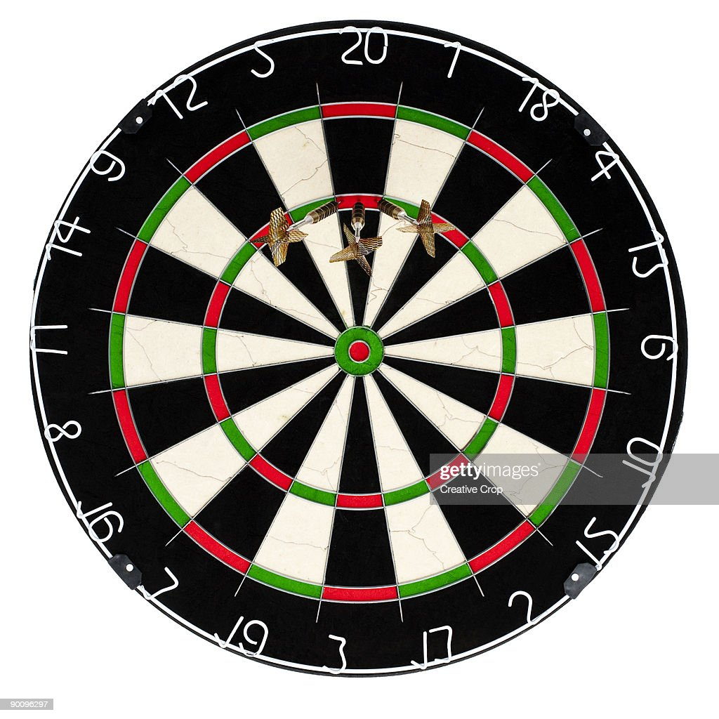 Dart board with a 180 score