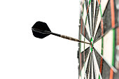 Dart in bulls-eye
