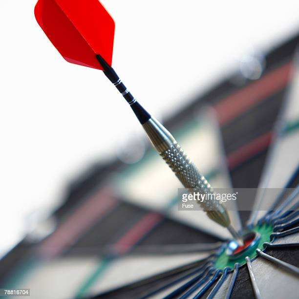 Dart in Center of Dart Board