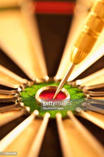 Dart targeted on the bulls eye