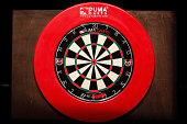Dartboard to be used in the Superleague Darts at Shed 6 on September 6 2014 in Wellington New Zealand
