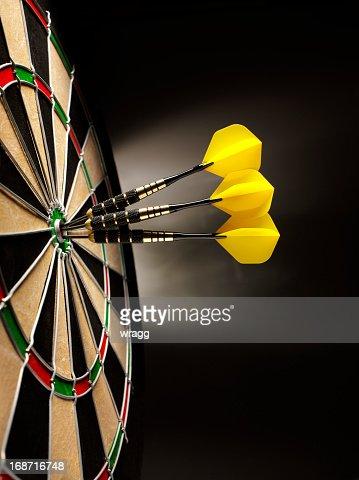 Dartboard with Three Darts