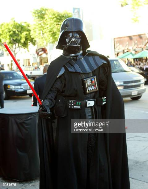 Darth Vader arrives at the 'Star Wars Episode III Revenge Of The Sith' Los Angeles Premiere at the Mann Village Theatre on May 12 2005 in Westwood...