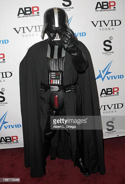 Darth Vader arrives for the Premiere Of Vivid Entertainment's 'Star Wars XXX A Porn Parody' held at SupperClub on February 23 2012 in Hollywood...