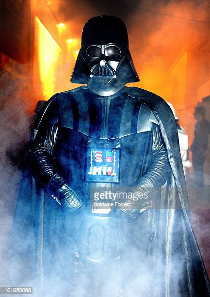 Darth Vader attends adidas Host The Street Party at Coronation Street ITV studios on June 5 2010 in Manchester England