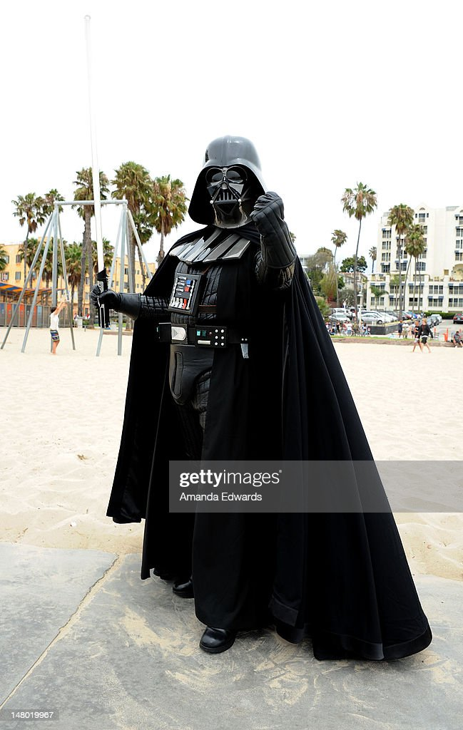 Darth Vader attends Course of The Force - Inaugural 'Star Wars' Lightsaber Relay at Santa Monica Pier on July 7, 2012 in Santa Monica, California.