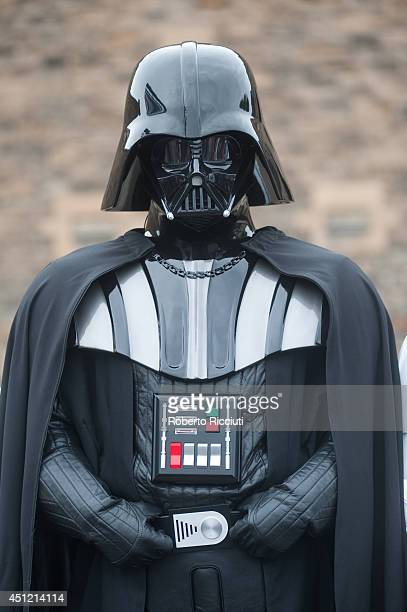Darth Vader attends for 'Star Wars Episode V The Empire Strikes Back' photocall at Edinburgh Castle during the Edinburgh International Film Festival...