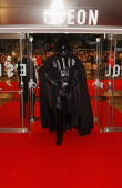 Darth Vader attends UK Premiere of 'Star Wars Episode III Revenge Of The Sith' at Odeon Leicester Square on May 16 2005 in LondonThe eagerly awaited...