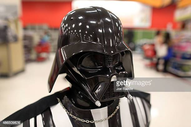 Darth Vader doll is seen for sale at a Target store on September 4 2015 in Miami Florida The merchandise is on sale ahead of the December release of...