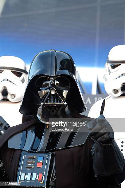 Darth Vader during 'Star Wars Episode III Revenge of the Sith' Madrid Premiere at Kinepolis Cinema in Madrid Spain