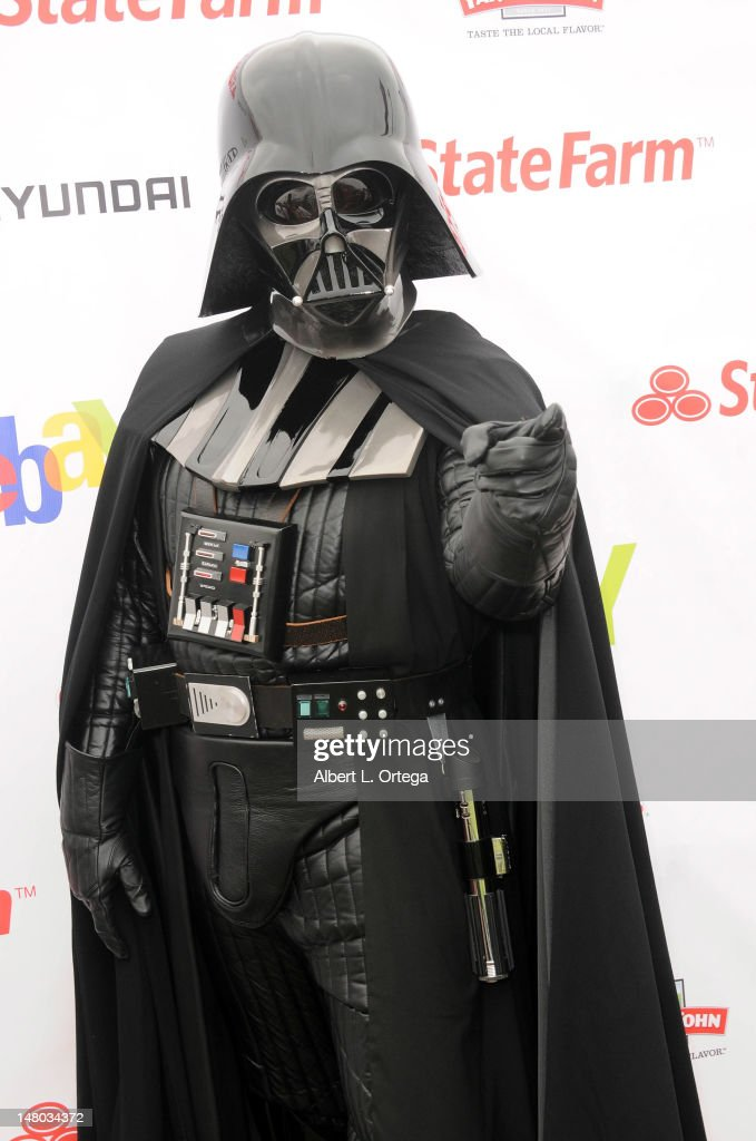 Darth Vader participates in The Inaugural 'Course Of The Force' Olympic Relay Run with lightsabers to Benefit The Make-A-Wish Foundation hosted by LucasFilm, Nerdist Industries and Octagon held at The Santa Monica Pier on July 7, 2012 in Santa Monica, California.