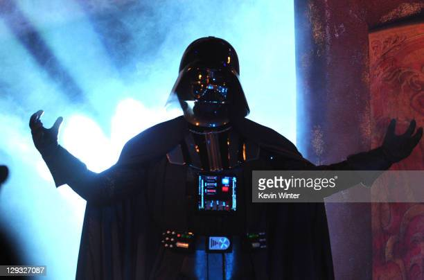 Darth Vader speaks onstage during Spike TV's 'SCREAM 2011' awards held at Universal Studios on October 15 2011 in Universal City California