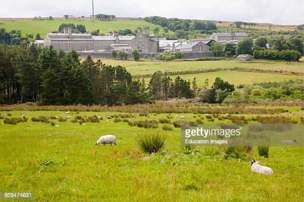 Dartmoor prison at Princetown Dartmoor national park Devon England