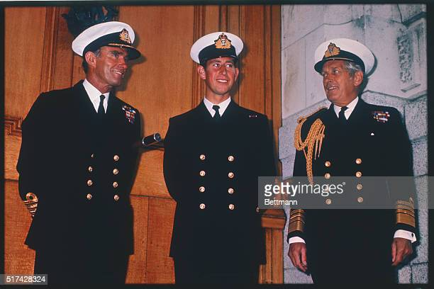 Wearing the uniform of a very junior naval officer is Prince Charles beginning his studies at the Royal Naval College before joining the crew of a...