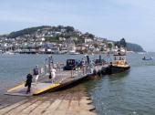 Dartmouth to Kingswear lower ferry Devon UK
