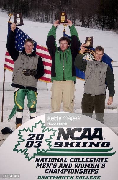 Dartmouth's Bradley Wall University of Vermont's James Cochran and University of Vermont's Scott Kennison finished in first second and third place...