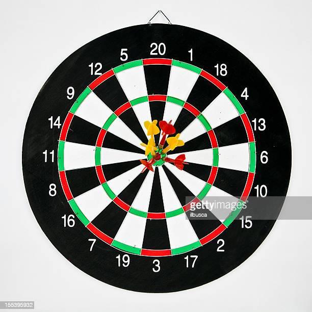 Darts target concept: win