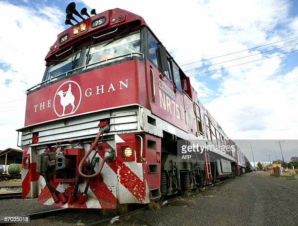 The legendary transcontinental train 'The Ghan' named after the Afghan cameldrivers who opened up the outback in Darwin 08 February 2006 The Ghan...