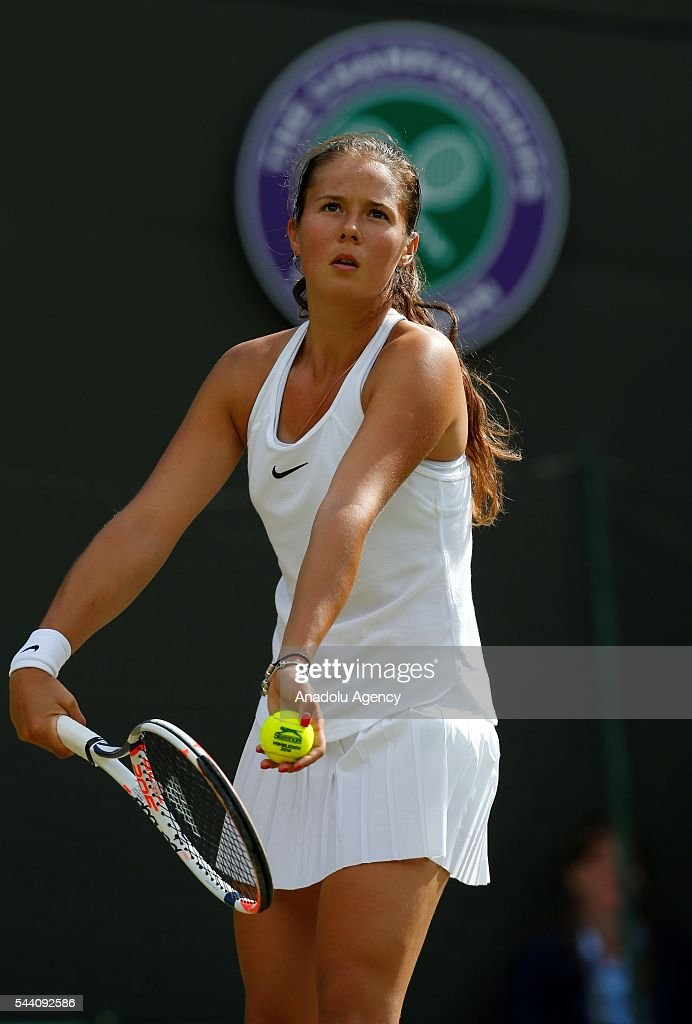 Darya Kasatkina of Russia in action against Venus Williams (not seen) of USA on day five of the 2016 Wimbledon Championships at the All England Lawn and Croquet Club in London, United Kingdom on July 01 2016.