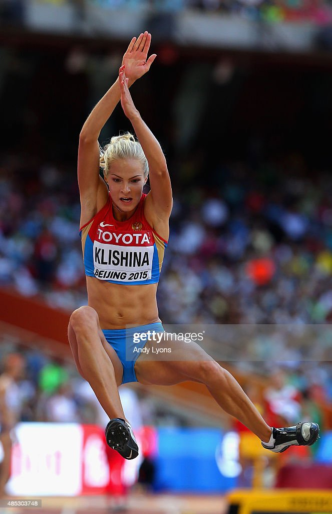 <a gi-track='captionPersonalityLinkClicked' href=/galleries/search?phrase=Darya+Klishina&family=editorial&specificpeople=4406149 ng-click='$event.stopPropagation()'>Darya Klishina</a> of Russia competes in the Women's Long Jump qualification during day six of the 15th IAAF World Athletics Championships Beijing 2015 at Beijing National Stadium on August 27, 2015 in Beijing, China.