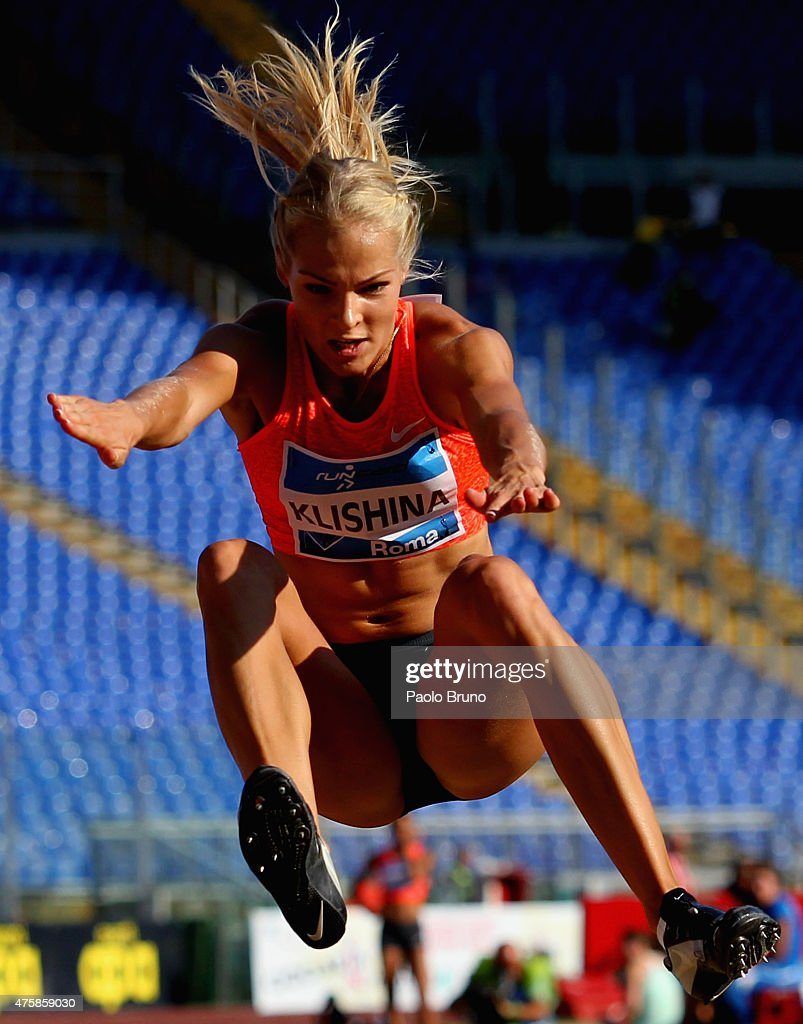 <a gi-track='captionPersonalityLinkClicked' href=/galleries/search?phrase=Darya+Klishina&family=editorial&specificpeople=4406149 ng-click='$event.stopPropagation()'>Darya Klishina</a> of Russia competes in the women's long jump during the IAAF Golden Gala at Stadio Olimpico on June 4, 2015 in Rome, Italy.