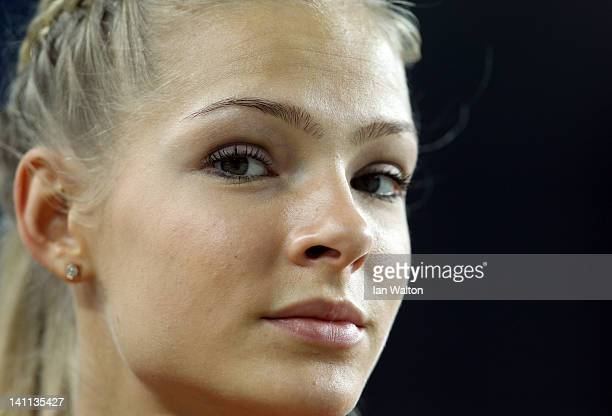 Darya Klishina of Russia looks on as she competes in the Women's Long Jump Final during day three of the 14th IAAF World Indoor Championships at the...