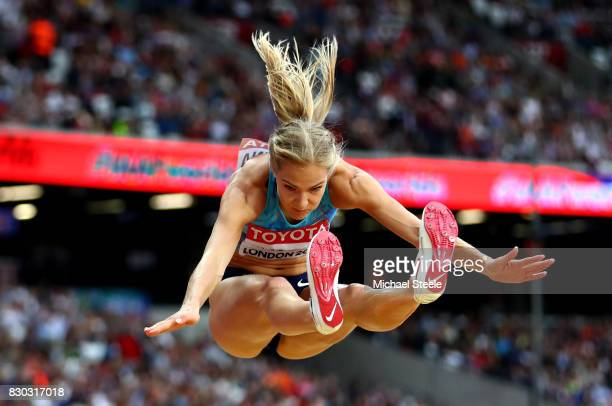 Darya Klishina of the Authorised Neutral Athletes competes in the Women's Long Jump final during day eight of the 16th IAAF World Athletics...
