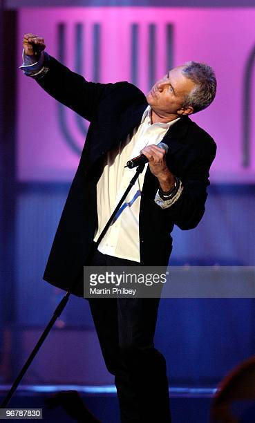 Daryl Braithwaite of Sherbet performs on stage at Countdown Spectacular at the Rod Laver Arena on 7th September 2006 in Melbourne Australia All...