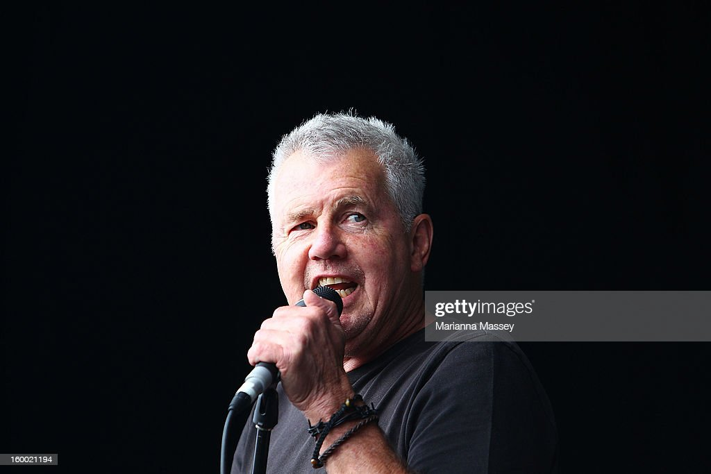 Daryl Braithwaite performs live on the Heineken live stage of the 2013 Australian Open at Melbourne Park on January 25, 2013 in Melbourne, Australia.