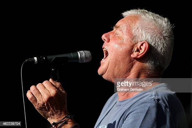 Daryl Braithwaite performs on the Heineken Live Stage during the 2015 Australian Open at Melbourne Park on January 26 2015 in Melbourne Australia